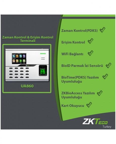 UA860 Parmak İzi Teknolojili PDKS ve Erişim Kontrol Cihazı
